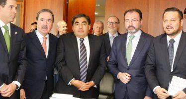 Videgaray se reunió con senadores integrantes de la Junta de Coordinación Política