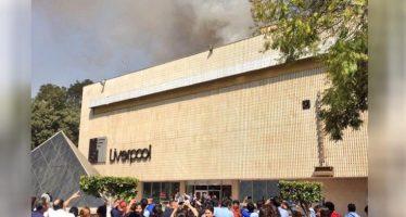 Se incendia tienda Liverpool de Galerías Insurgentes; no hay lesionados