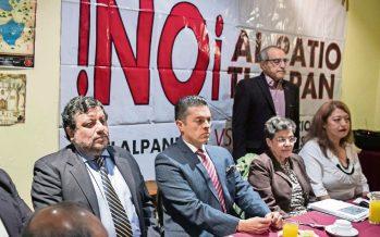 Vecinos protestan por construcción de Patio Tlalpan; delegada se lava las manos