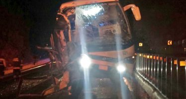 Accidente de autobús en la México-Puebla causa un muerto y seis lesionados