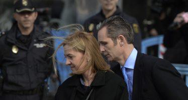 Absuelven a la infanta Cristina de delitos fiscales; su esposo iría a seis años de prisión