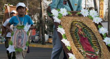 Más de 70 mil peregrinos del Edomex llegan a la Basílica de Guadalupe