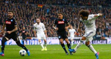 Real Madrid doblegó 3-1 al Napoli, que cayó aun con el apoyo moral de Maradona