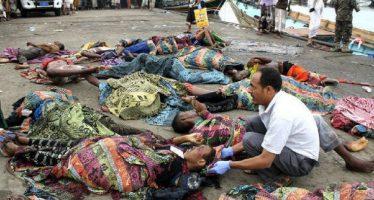Helicóptero ataca embarcación de refugiados somalíes y causa 31 muertos