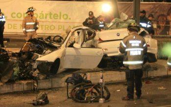 Lujoso auto choca en Paseo de la Reforma y deja saldo de cuatro muertos