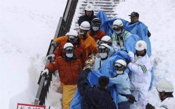 Avalancha de nieve en Nasu, Japón, deja ocho muertos y decenas de lesionados