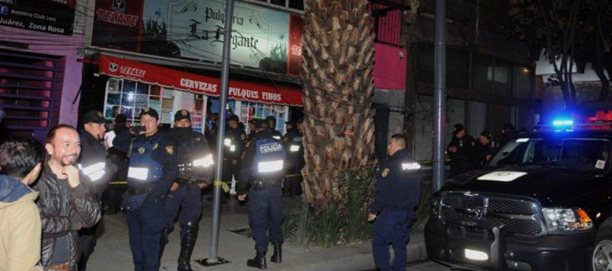 Balacera en pulquería de la Zona Rosa causa un muerto y un herido