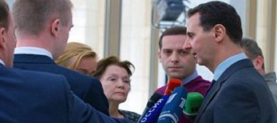 Siria está abierta al diálogo con Rusia, incluso para revisar la Constitución: Bashar al Assad