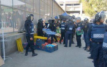SSP detiene a 31 comerciantes ambulantes en Metro Pantitlán