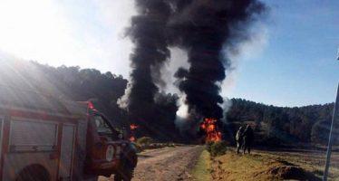 Se incendia ducto de Pemex en Calpulalpan; no reportan heridos