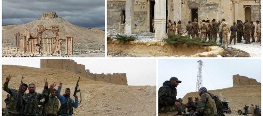 Fuerzas del gobierno sirio recuperan la ciudadela de Palmira, que controlaba el EI
