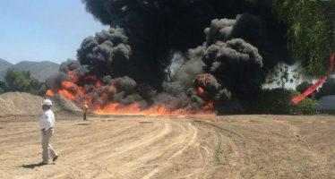 Se incendia toma clandestina de hidrocarburos en Quecholac, Puebla