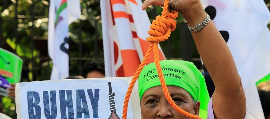 Cámara de Filipinas aprueba la pena de muerte para personas implicadas en drogas