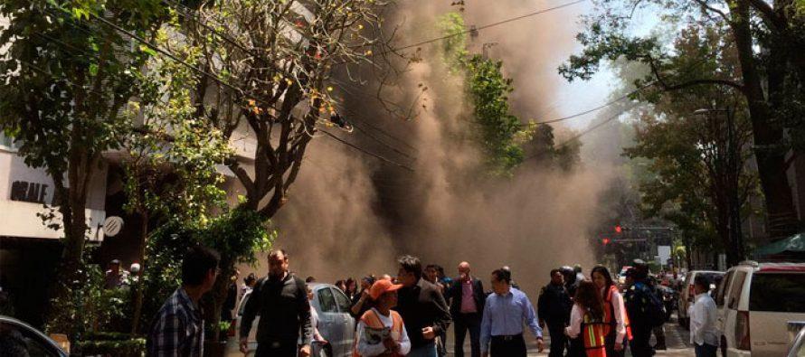 Bomberos controlan incendio en edificio de Masaryk, en Polanco