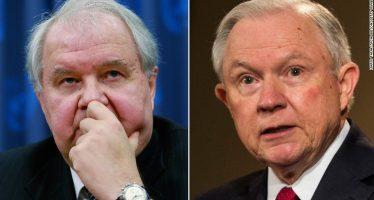 Demócratas y republicanos piden renuncia de Sessions; se reunió con embajador ruso