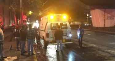 Tres lesionados por arma de fuego afuera del Metro Morelos