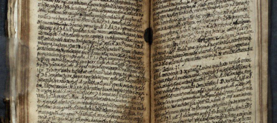 Recuperan tres manuscritos de Luis de Carvajal; datan de fines del siglo XVI