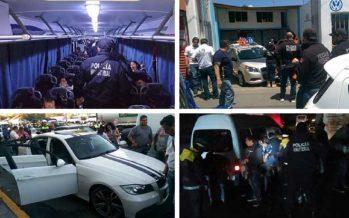 Detienen a 58 personas y catean inmuebles en Tlalnepantla, en mega operativo conjunto