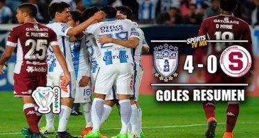 Pachuca gana 4-0 al Saprissa de Costa Rica; va a semifinales de la Concachampions