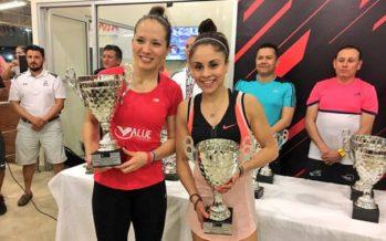 Paola Longoria y Samantha Salas, campeonas en dobles del Campeonato de raquetbol