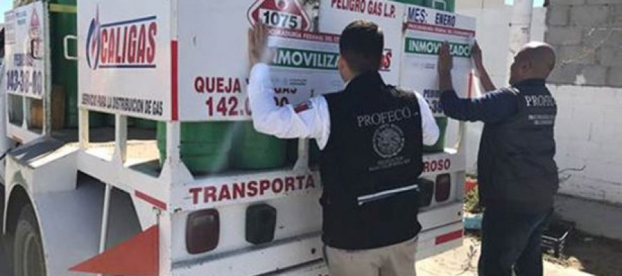 Profeco sanciona a 128 empresas gaseras por irregularidades