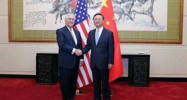 Tillerson visita China para dialogar con Xi Jinping; desacuerdos sobre Corea del Norte