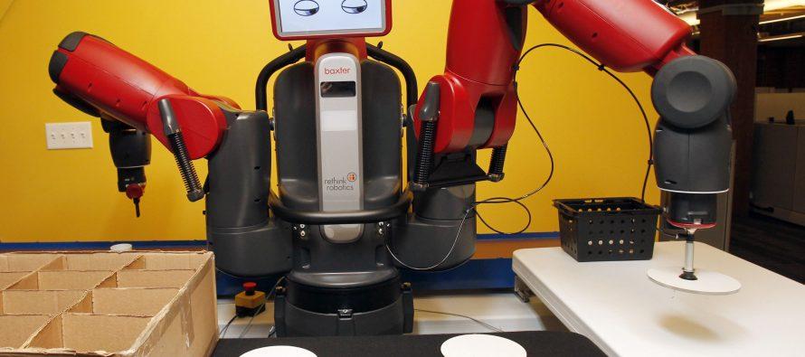 Desarrollan Robot Baxter que puede ser controlado por la mente