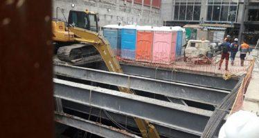 Derrumbe en construcción de la colonia San Rafael causa un muerto y cuatro heridos