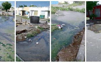 Fraccionamiento Colinas de Santa Fe, entre aguas negras, excremento y cadáveres