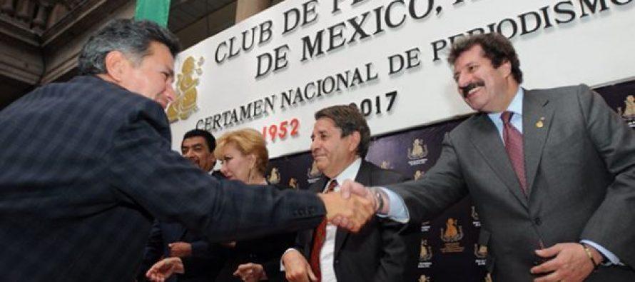 Organización Editorial Mexicana recibe Premios Nacionales de Periodismo