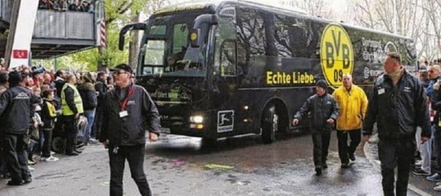 Se produce explosión junto a autobús del club de futbol Dortmund