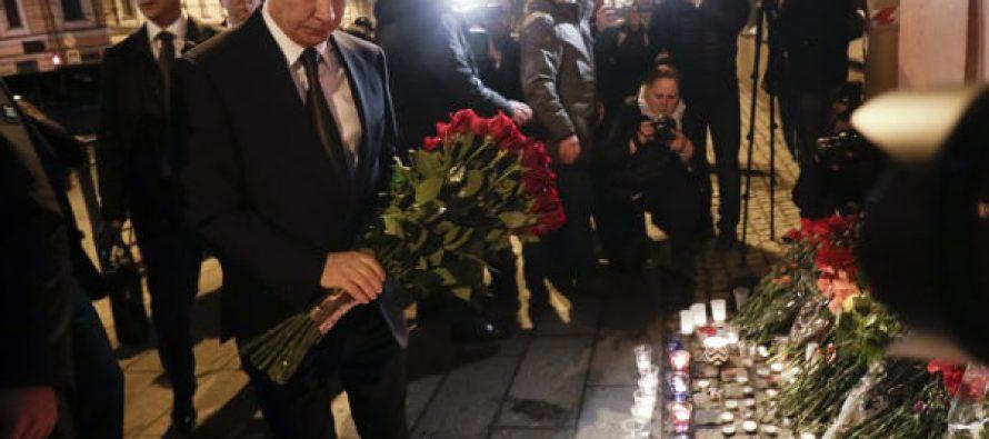 Presidente Putin visita lugar del atentado en el Metro de San Petersburgo