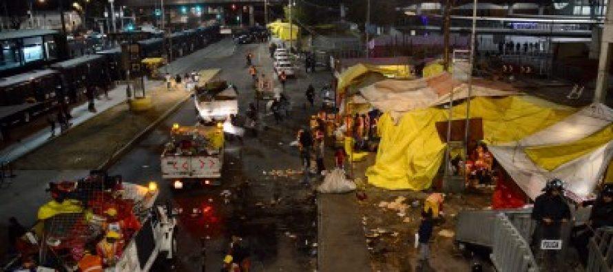 Autoridades de la CDMX retiran puestos semifijos del paradero de San Lázaro