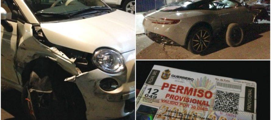 El auto más lujoso de México chocó en San Pedro de los Pinos