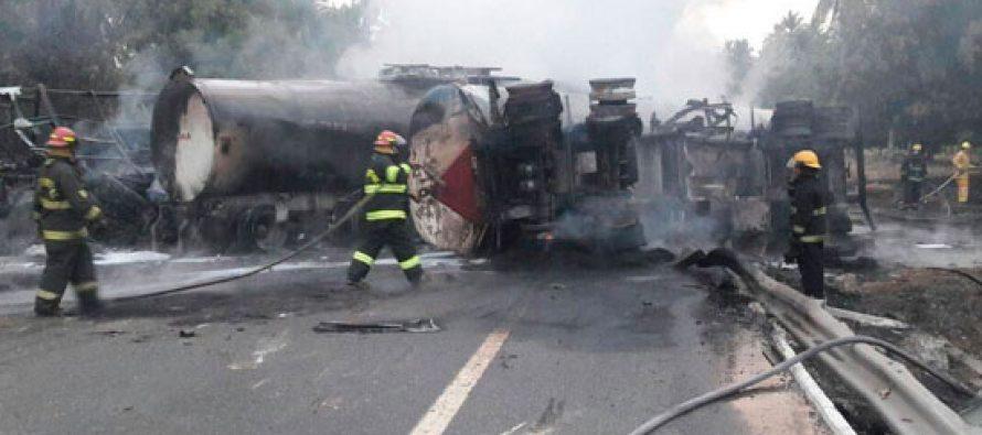 Equipo forense termina identificación de cuerpos del accidente en Autopista Siglo XXI