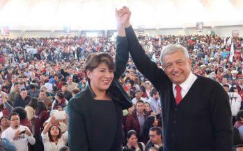 Multan a Delfina Gómez y a Morena por realizar actos anticipados de campaña