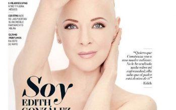 Edith González posa sin cabello en su lucha contra el cáncer