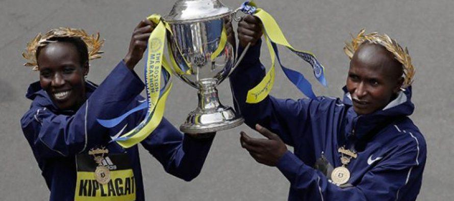 Kenia conquista el primer lugar masculino y femenino del Maratón de Boston