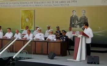 EPN encabeza en Veracruz la conmemoración de la Defensa Heroica del puerto en 1914