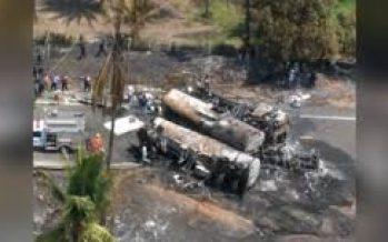 Sube a 26 el número de muertos del accidente entre autobús y camión de combustible
