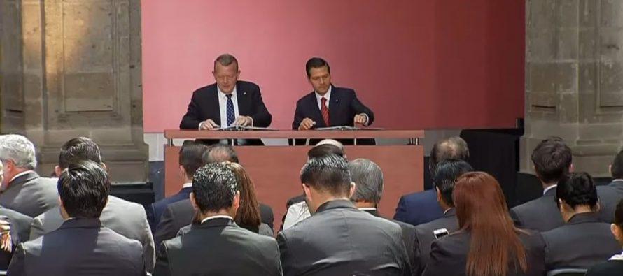 México y Dinamarca firman acuerdos de impulso al comercio e inversión