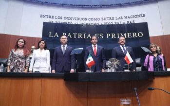 Presidente de Polonia, Andrzej Duda, fue recibido en sesión solemne por senadores