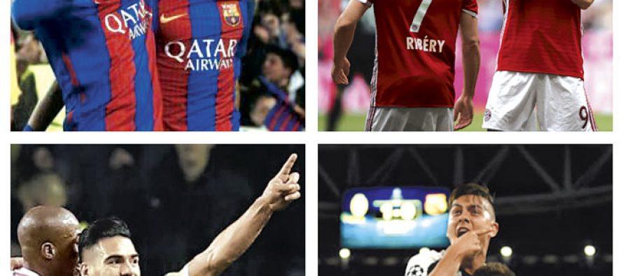 Barcelona, Bayern Munich, Juventus y Mónaco van tras el Triplete
