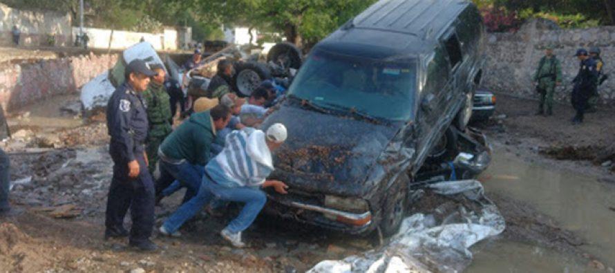 Tromba en Armadillo de los Infante, SLP, deja 5 muertos y daños de más de 5 mdp
