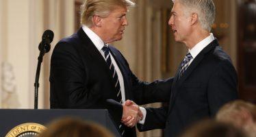 Trump urge al Senado aprobar a su nominado Gorsuch como magistrado de la SCJ