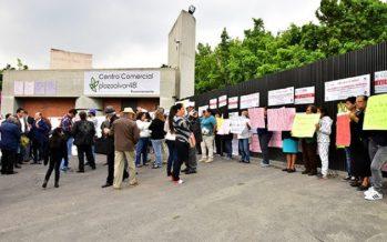 Vecinos exigen demoler edificio colapsado en Avenida Toluca