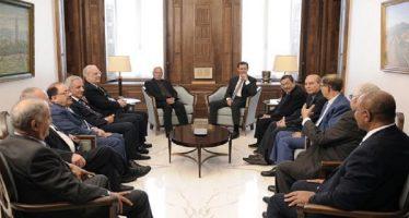 Presidente sirio se reúne con delegación árabe que participará en Congreso internacional