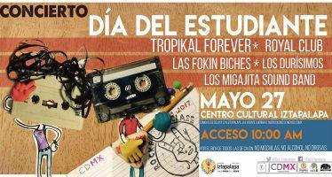 La Delegación Iztapalapa celebrará con un concierto el Día del Estudiante