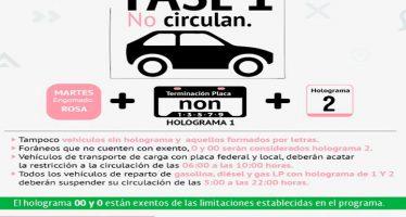 Activan la Fase 1 de Contingencia Ambiental en la Zona Metropolitana de la CDMX