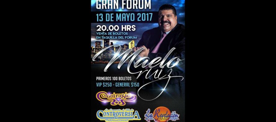 """Maelo Ruiz presentará en México su nuevo sencillo """"No entiendo"""" en el Gran Forum"""